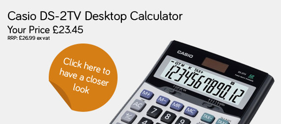 Casio DS-2TV Desktop Calculator