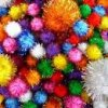 Glitter Pom Poms Assorted(40) W2142345 HA192321