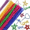 Glitter Pipe Cleaners 30cm Assorted (30)